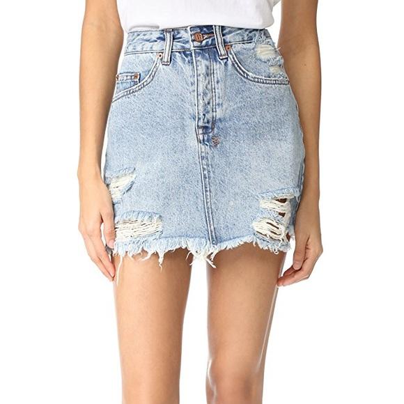 fcb5b797a8e KSUBI Mini Moss Denim Skirt